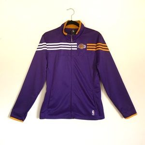 adidas Lakers Training Full Zip Track Jacket L